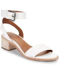Frye - Cindy Leather Ankle Strap Sandals - Lyst