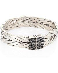 John Hardy - Modern Chain Black Sapphire, Black Spinel & Silver Bracelet - Lyst
