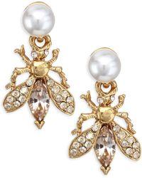 Oscar de la Renta - Bug Button Faux-pearl Earrings - Lyst