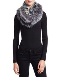 Saks Fifth Avenue - Rabbit & Fox Fur Infinity Scarf - Lyst