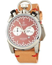 CT Scuderia Café Racer Stainless Steel Leather Strap Analog Watch - Multicolor