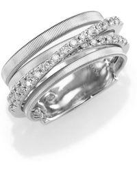 Marco Bicego - Goa Diamond & 18k White Gold Five-strand Ring - Lyst