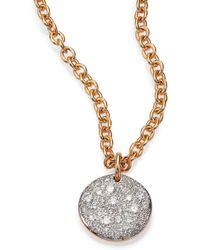 Pomellato - Sabbia Diamond & 18k Rose Gold Pendant - Lyst