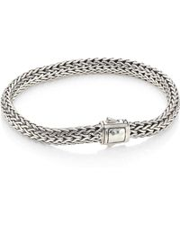 John Hardy | Classic Chain Small Hammered Silver Chain Bracelet | Lyst