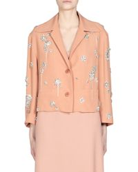 Dries Van Noten | Crystal Embroidered Cropped Jacket | Lyst