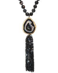 Nest | Long Horn & Agate Tassel Necklace | Lyst