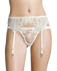 Hanky Panky - Elizabeth Embroidered Garter Belt - Lyst