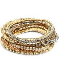 ABS By Allen Schwartz | Multi Crystal Stretch Bracelet Set | Lyst