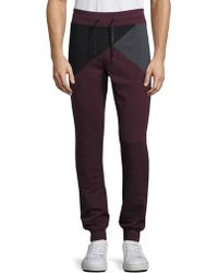 Madison Supply - Geometric Colorblock Jogger Trousers - Lyst