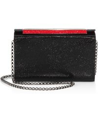 Christian Louboutin - Vanite Small Strass Leather Clutch - Lyst