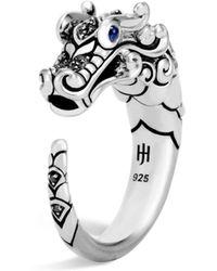 John Hardy - Legends Naga Sapphire & Black Spinel Ring - Lyst