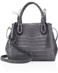 Nancy Gonzalez | Medium Double Tie-knot Crocodile Tote | Lyst
