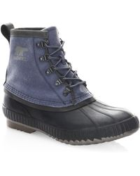 Sorel - Cheyanne Ii Canvas Lace-up Boots - Lyst