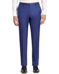 Corneliani - Solid Straight-leg Wool Pants - Lyst