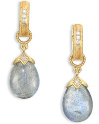 Jude Frances - Lisse Pear-shape Briolette Earring Charms - Lyst