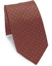 Eton of Sweden - Red Printed Medallion Tie - Lyst