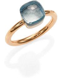 Pomellato - Nudo Blue Topaz & 18k Rose Gold Small Ring - Lyst