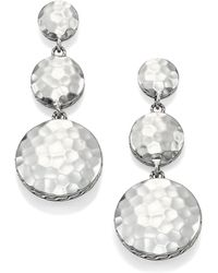 John Hardy | Palu Sterling Silver Disc Triple Drop Earrings | Lyst