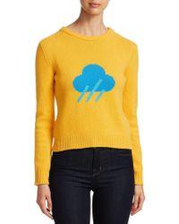 Alberta Ferretti - Rainy Print Knitted Jumper - Lyst