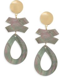 Nest - Gray Mother-of-pearl Clip-on Earrings - Lyst
