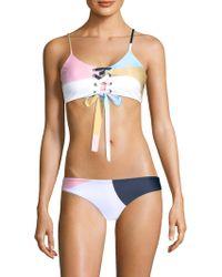 Mara Hoffman - Scarlett Lace-up Bikini Top - Lyst