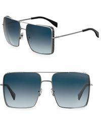 Moschino - 59mm Oversized Square Sunglasses - Lyst