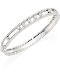 Messika - Move Medium Seven Diamond & 18k White Gold Bangle - Lyst