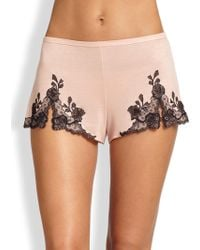 Natori - Charlize Lace Embroidered Tap Shorts - Lyst