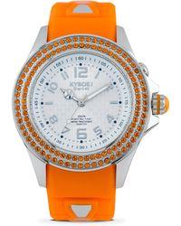 Kyboe - Radiant Vitality Swarovski Crystal & Silicone Strap Watch/orange - Lyst