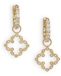 Jude Frances - Classic Diamond & 18k Yellow Gold Open Clover Marquis Earring Charms - Lyst