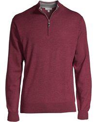 Peter Millar - Men's Wool Quarter Zip Pullover - Autumn Foliage - Size Large - Lyst