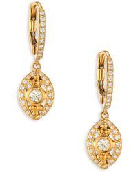 Temple St. Clair - Evil Eye Diamond & 18k Yellow Gold Drop Earrings - Lyst