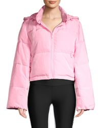 Alo Yoga - Women's Introspective Quilted Puffer Jacket - Cherry Pop - Size Medium - Lyst