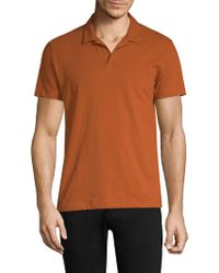 Theory - Short-sleeve Cotton Polo - Lyst