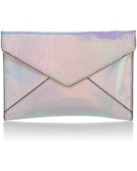 Rebecca Minkoff - Leather Leo Envelope Clutch - Lyst