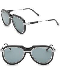 32cfbe642b Calvin Klein - Women s Modern 53mm Aviator Sunglasses - Black - Lyst