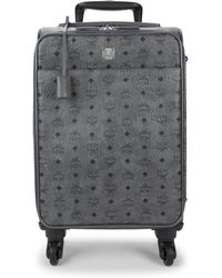 MCM - Small Victory Visetos Trolley Suitcase - Lyst
