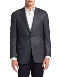 Giorgio Armani - Wool Button-front Jacket - Lyst