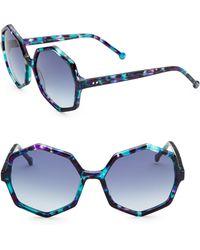 Colors In Optics - Farrah Hexagon Sunglasses - Lyst