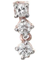 Kismet by Milka - 14k Rose Gold & Diamond Single Stud Earring - Lyst