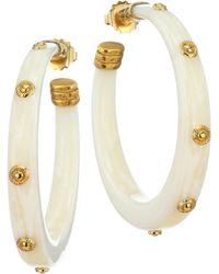 Gas Bijoux - 24k Goldplated Wide Hoop Earrings - Lyst