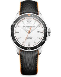 Baume & Mercier - Clifton Club 10337 Stainless Steel & Leather Strap Watch - Lyst