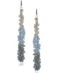 ABS By Allen Schwartz - Vibrant Vibes Beaded Linear Drop Earrings - Lyst