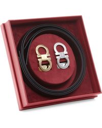 Ferragamo - Adjustable & Reversible Leather Belt Box Set - Lyst