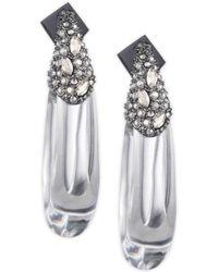 Alexis Bittar - Vanitas Crystal Encrusted Capped Hoop Earrings - Lyst