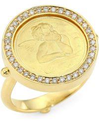 Temple St. Clair - Diamond & 18k Gold Angel Ring - Lyst