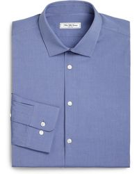 Saks Fifth Avenue - Modern Slim-fit Stretch Poplin Dress Shirt - Lyst