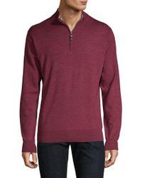Peter Millar - Wool Quarter Zip Pullover - Lyst