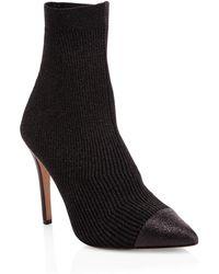 Alice + Olivia - Darbin Ribbed Stiletto Sock Boots - Lyst
