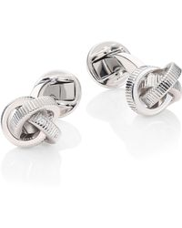 Saks Fifth Avenue - Collection Textured Knot Cufflink Set - Lyst